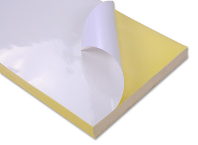 White A4 Self Adhesive Sticker Paper For Inkjet Printers / Laser 30sheet Glossy