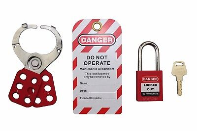 Mason Lockout Tagout Personal Starter Kit, Red Keyed Differently LOTO