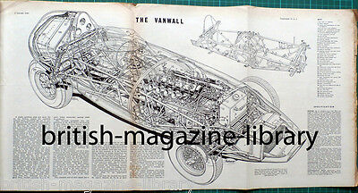 Autocar 2 January 1959 Road Test Fiat 500 technical cutaway drawing The Vanwall
