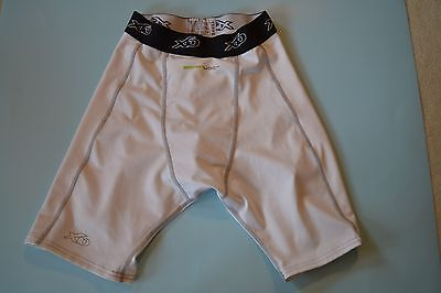 XO Compression Shorts Boys Smart Joc White with Cup Holder - Size 26-30