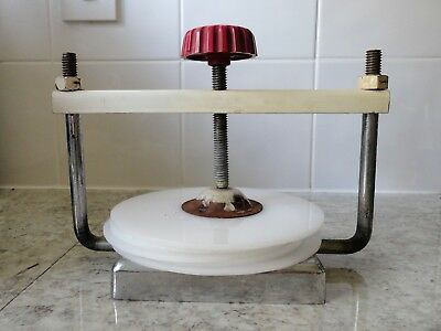 Unusual Vintage Heavy Metal Ham / Meat / Burger Press Kitchen Cooking