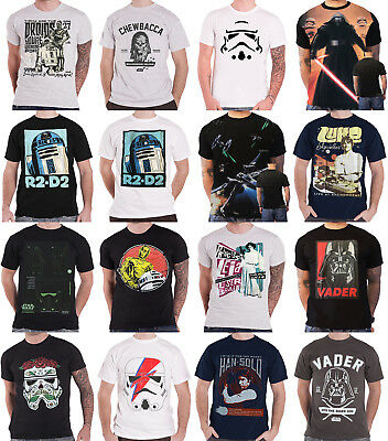 Star Wars T Shirt Mens Return of the Jedi R2D2 Luke Leia Official New