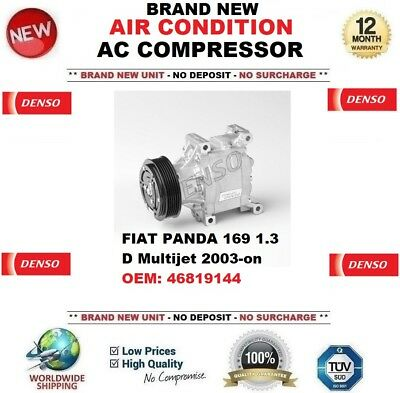 DENSO AIR CONDITION AC COMPRESSOR FIAT PANDA 169 1.3 D Multijet 2003-on 46819144