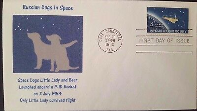 ★ Us - Space Dogs Little Lady & Bear Launched Aboard P-1D Rocket - Space Animal