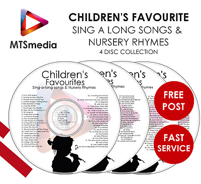 200 Childrens Favourite Sing-along Songs - Young Kids Nursery Rhymes 4 Disc Set
