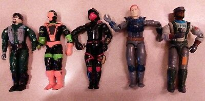 Vintage Lot Of Five GI Joe Action Figures Night Force Charbroil And More