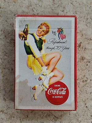 1956 SEALED Coca-Cola Advertising Playing Cards - Skater!!