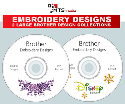 Huge 72,500 Brother Embroidery Design Collection with Preview Software Disney