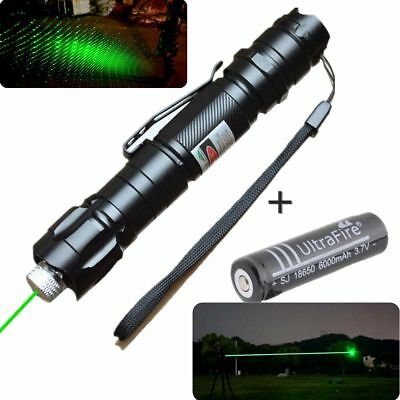 10 Mile Military 1mw Green Laser Pointer Pen Light 532nm Visible Beam Burn Focus