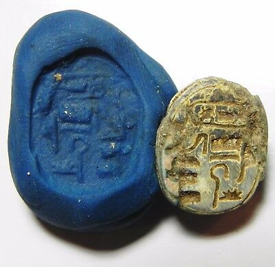 Zurqieh -Asw157- Ancient Egypt ,  Stone Scarab . New Kingdom 1400 B.c