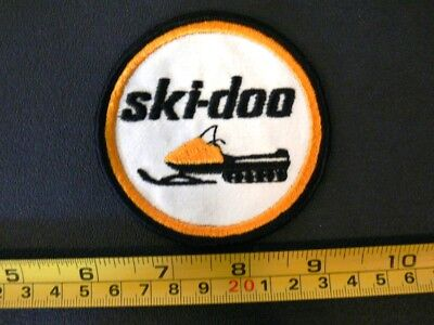 Embroidered Patch SKI DOO vintage 1970's snowmobile BOMBARDIER Canada V.1