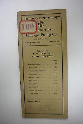 Early 1900's Trade Catalog CHICAGO PUMP CO Pump Guide ILLUSTRATED * 48 Pages