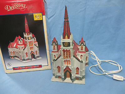 1993 Retired Lemax Dickensvale Village Church 35075 Lighted