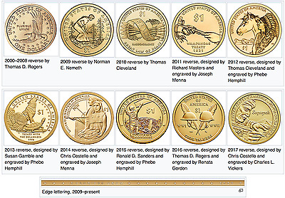 2000-2017 Sacagawea Native American Dollar Coins Choice of Year Prot Caps Opt