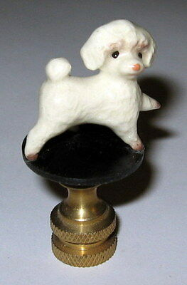 Toy Poodle Lamp Finial, lamp topper, new, porcelaiin
