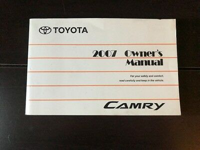 2007 toyota camry owners manual oem free shipping 19 50 picclick rh picclick com 2007 toyota camry service manual 2007 toyota camry service manual