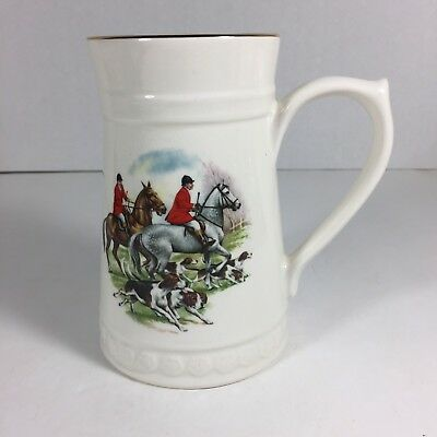 Fox Hunting Mug Stein Lord Nelson Pottery England Horse Hound Dogs Cup