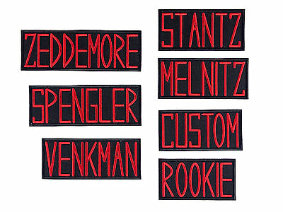 Ghostbusters Name Tags Badges GB1 Uniform Embroidered Iron On Patch Iron on Appl