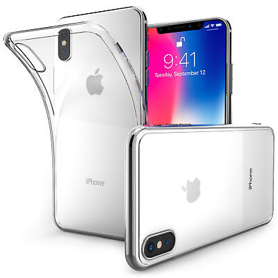 Ultra Thin Clear Transparent Silicone Gel Case Cover for iPhone X (iPhone 10)