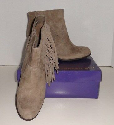 NEW Damenschuhe MADDEN Girl Descent Taupe With Ankle Stiefel With Taupe Fringe 11 033e99