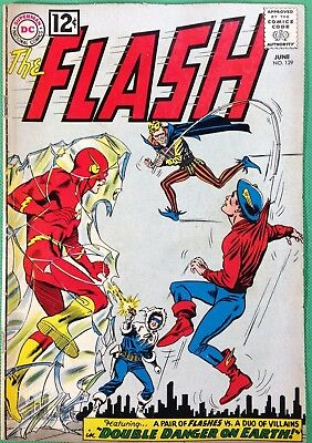 FLASH (1959) #129 VG+(4.5) 1st SA app GA Green Lantern Hawkman Atom Black Canary