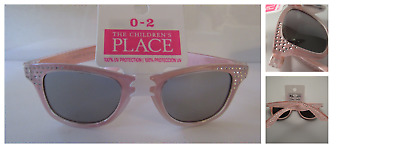 The Children's Place Baby Girl Sparkle Pink Sand Sunglasses UV Protection