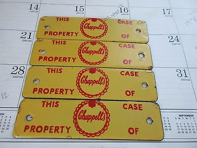 1) Vintage Chappell's Dairy Milk Crate Porcelain Advertising Sign Tag Chappells