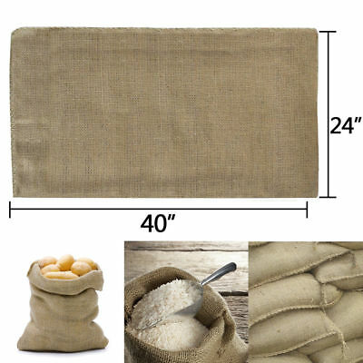 10 Bags Heavy Duty 24x40 Burlap Bags Sacks Potato Sack Sandbags Gunny Race Bag