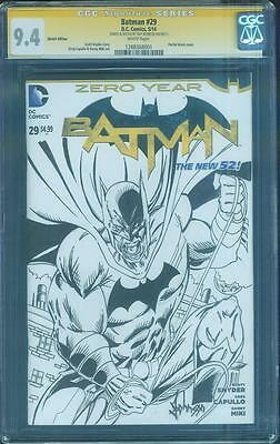 Batman 29 CGC SS 9.4 Johnson Original art Sketch Variant Cover Top 1 no 8