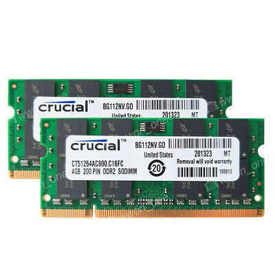 8GB 2x4GB PC2-6400 DDR2-800MHz 200pin Memory For Dell Inspiron 1440 1545 1750