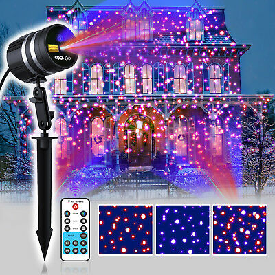 weihnachts laser led mit rotierenden schneeflocken led projektor laserlicht weih eur 18 99. Black Bedroom Furniture Sets. Home Design Ideas