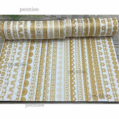 Gold lace Washi Paper Masking Tape Handmade Craft Scrapbook Gift Wrap Home Decor