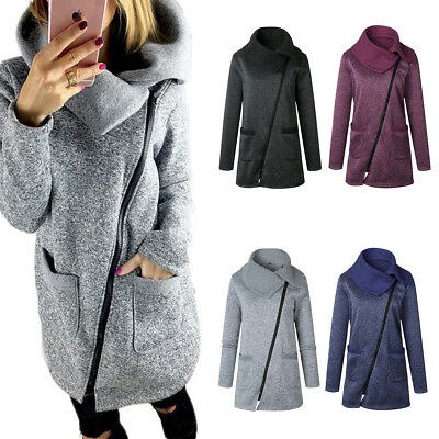 Fashion Women Winter Trench Coat Warm Parka Overcoat Long Jacket Zipper Outwear