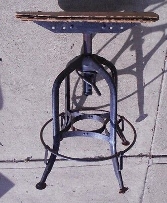 Antique Iron & Wood Industrial 360° Swivel Stool-Pick Up Only in Central Ohio