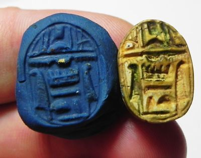 ZURQIEH -ASW131- Ancient Egyptian Steatite Scarab , New KIngdom.