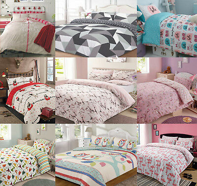 Dreamscene Duvet Quilt Cover With Pillowcase Bedding Set in Single Double King