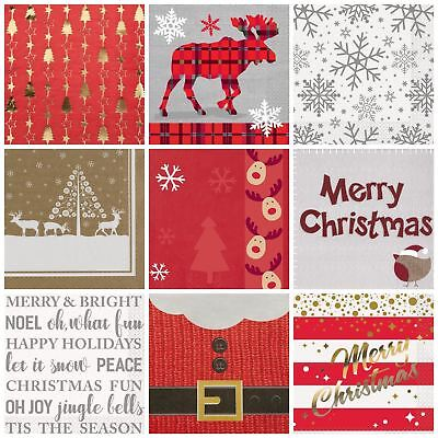 Christmas Napkins Table Paper Serviettes Party Tableware Luxury Xmas New Year