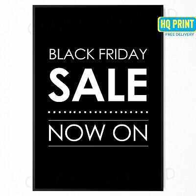 Black Friday Sale Poster Large & SALE SHOP Sign Adverts