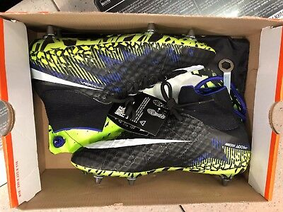 big sale 628ac 34021 NIKE HYPERVENOM PHANTOM II SG PROMO [NEW] BLK/WHT/VOLT 873314 018 NO BOX TOP