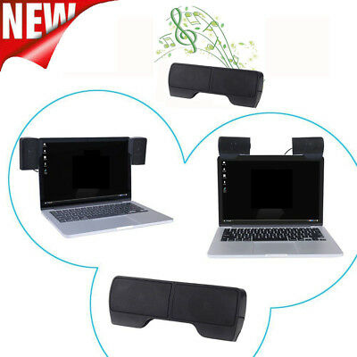 Portable Mini USB Audio Sound Bar Stereo Speaker For Laptop Computer PC Notebook