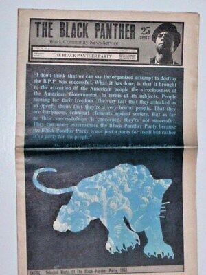 Black Panther Party Newspaper - January 3, 1970 David Hilliard , Power, radical