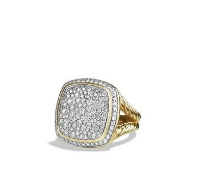 David Yurman Albion Ring with Diamonds in 18K Gold, 17 mm