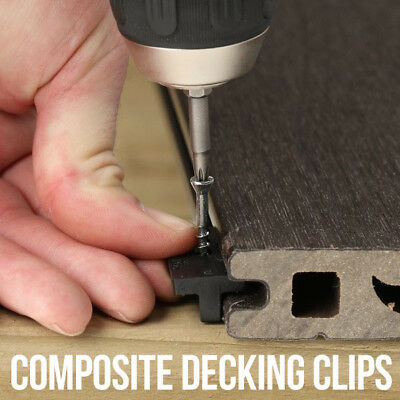 Composite Decking Clips Fixings Fastners Plastic T WPC Deck & Stainless Screws