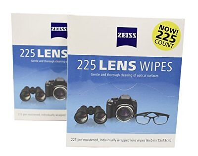 Zeiss Pre-Moistened Lens Cleaning Wipes 2 Packs of 225-450 TotaL