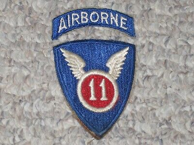 WW2 US Army 11th Airborne Division Patch with Tab WWII Cut Edge