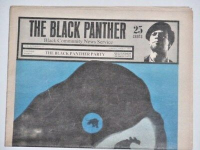 Black Panther Party News, April 6,1969  Emory ,power, radical, paper Oakland Pig