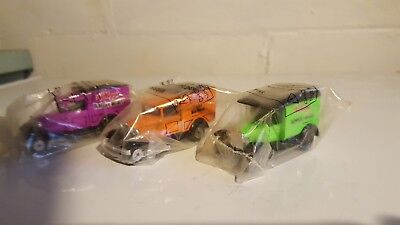 Lot of 3 Collectible Matchbox Cars Kelloggs Cereal Trucks Sealed Vintage Toys
