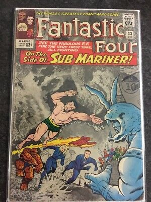 Fantastic Four #33 Marvel Comics Vol. 1 First Print (1964)