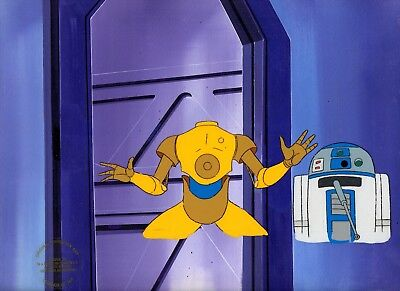 Star Wars Droids 1985 Lucasfilms Original Gaff Cel & Hand Painted Background.