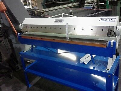 sheet metal brake4ft Box type x16 guage with counter weight very good units